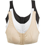 Front Closure Leisure Bras - Pack of 3