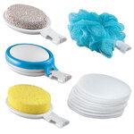 15 Piece Interchangeable Bath Sponges With Handle