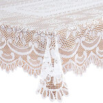 White Rose Lace Tablecloth