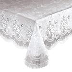 Elegant Floral Vinyl Lace Table Cover
