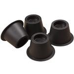 Black Bed Risers - Set of 4