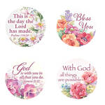 Religious Floral Stickers, Set of 144