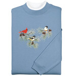 Chickadees and Cardinal Sweatshirt by Sawyer Creek