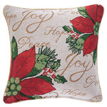 Poinsettia Pillow Cover