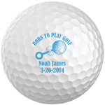 Personalized Born to Play Golf Balls, Set of 6