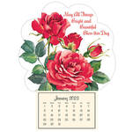 Mini Magnetic Calendar Roses in Bloom