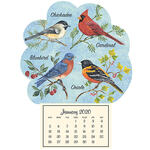 Mini Magnetic Calendar Songbirds