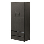 Canvas Storage Wardrobe with Magnetic Doors