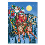 Personalized In Flight Christmas Card Set of 20