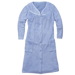Snap-Front Fleece Robe with Pockets by Sawyer Creek
