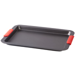 Baking Sheet with Red Silicone Handles
