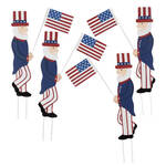 Uncle Sam Metal Yard Stakes, Set of 4 by Fox River Creations™