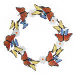 Metal Butterfly and Daisies Wreath by Fox River Creations™