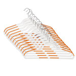Slim Rubberized Hangers, Set of 12