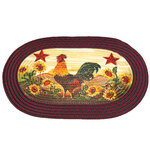 Rooster in Sunflowers Braided Rug by OakRidge™