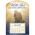 Mini Magnetic Calendar Praying Hands