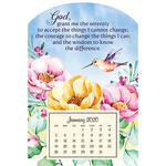 Mini Magnetic Calendar Serenity Prayer