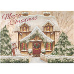 Personalized Cozy Cottage Christmas Card Set of 20
