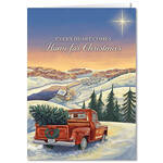 Personalized Hearts Come Home for Christmas Card Set of 20