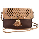 Urban Energy ™ Cross Body Laser Pattern Bag with Tassels