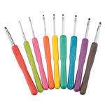 Wide Handle Crochet Hooks, Set of 9