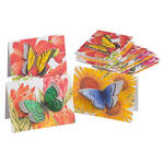 Butterfly Die Cut Note Card Set/12