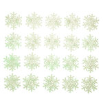 Glow-in-the-Dark Snowflakes, Set of 20