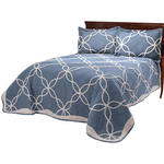 Sophie Tufted Quilt/Sham Twin Blue by OakRidge™