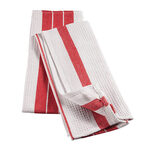 Big & Thirsty Red Stripe Kitchen Towels Set/2