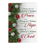 Peace, Hope, Christ Christmas Card Set of 20