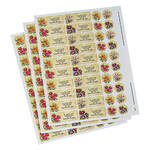 Personalized Floral Labels & Seals 60
