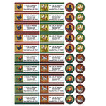 Personalized Rooster and Hens Labels and Seals, Set of 60