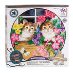 Jane Maday Rounds 300 Piece Puzzle Whiskers at the Window