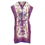 Royal Orchid Border Print Caftan by Sawyer Creek