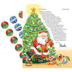 Personalized Christmas Letter from Santa and 24 Stickers