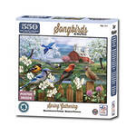 Songbirds Spring Gathering Puzzle 550 Pc.