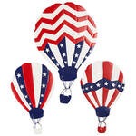 Patriotic Hot Air Balloons, Set of 3 by Fox River Creations™