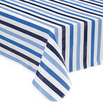 Blue Stripe Vinyl Tablecover by Home-Style Kitchen™