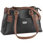 B.Amici™ Nicole RFID Greenwich Multi Pocket Leather Satchel