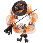 Witch Legs Halloween Wreath by OakRidge™