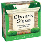 Church Signs Desk Calendar
