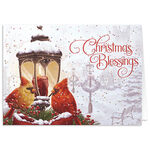 Personalized Cardinals Greeting Christmas Card Set of 20