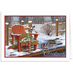 Personalized Adirondak Chair Christmas Card Set of 20