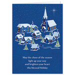 Personalized Peaceful Village Christmas Card Set of 20