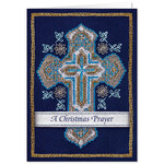 Personalized Cross Stitch Cross w/Bookmark Card Set/20