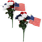 Red, White and Blue American Rose Tributes, Set of 2