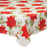 Poinsettia Vinyl Tablecover