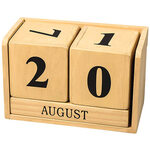 Wooden Perpetual Desktop Calendar