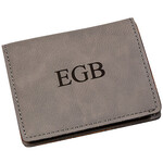Personalized Gray Wallet