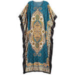 Teal Print Caftan by Sawyer Creek